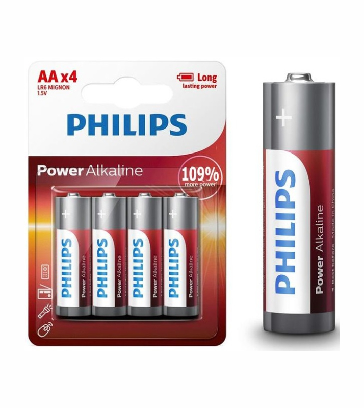 PHILIPS POWER ALK AA-P4 LR6P4B/05 37796 ΜΠΑΤΑΡΙΕΣ