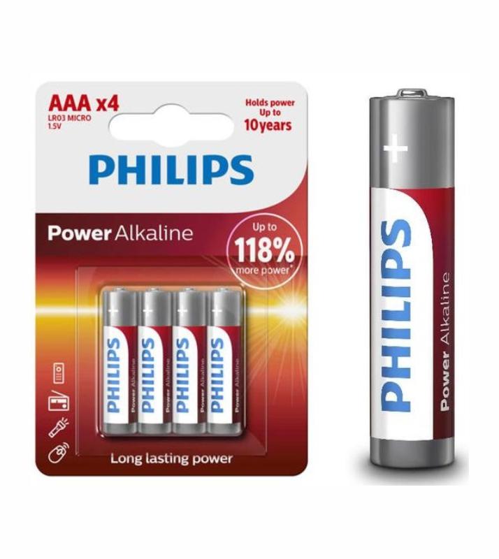PHILIPS POWER ALK 3A-P4 LR03P4B/05 37764 ΜΠΑΤΑΡΙΕΣ