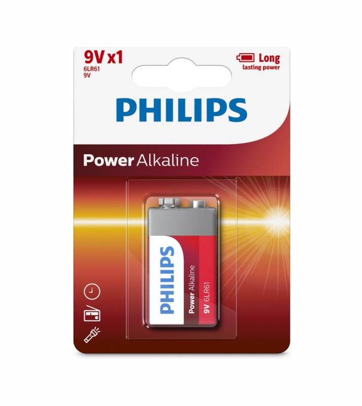 PHILIPS POWER ALK 9V B1 6LR61P1B/05 38236 ΜΠΑΤΑΡΙΑ