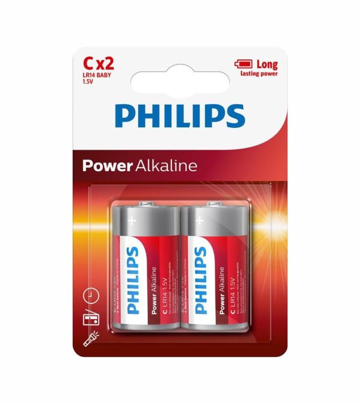 PHILIPS POWER ALK C-Ρ2 LR14P2B/05 ΜΠΑΤΑΡΙΕΣ