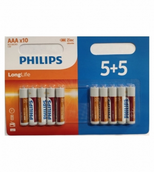PHILIPS LONGLIFE 3A 5+5 BLISTER R03L10BP/10 ΜΠΑΤΑΡΙΕΣ