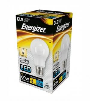 ΛΑΜΠΑ ENERGIZER S15233 LED GLS(A60) E27 9W 806LM ΘΕΡΜΟ WARM WHITE