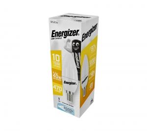ΛΑΜΠΑ ENERGIZER S16593 ΛΕΥΚΗ ΣΥΣΚΕΥΑΣΙΑ LED ΚΕΡΙ(CANDLE) E14 5,2W 470LM ΛΕΥΚΟ DAYLIGHT