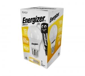 ΛΑΜΠΑ ENERGIZER S16603 ΛΕΥΚΗ ΣΥΣΚΕΥΑΣΙΑ LED GLS(A60) E27 8,2W 806LM ΘΕΡΜΟ WARM WHITE