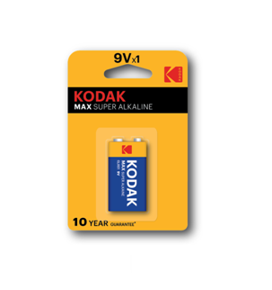 KODAK MAX Super Alkaline Batteries 9V