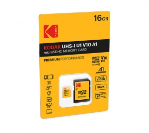 KODAK microSD PREMIUM PERFORMANCE Class 10 UHS-I U1 V10 A1